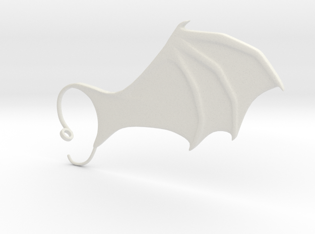 Air cuffs - Dragon Wings in White Natural Versatile Plastic