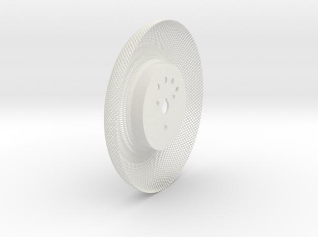 C-LRV wheel inner mesh & hub-FL&BR in White Strong & Flexible