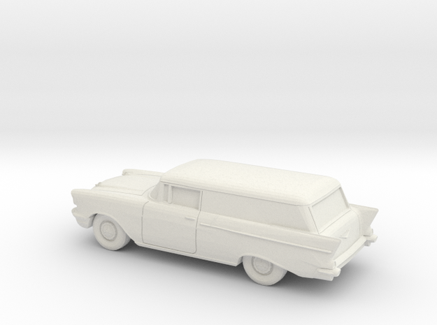 1/87 1957 Chevrolet One Fifty Delivery in White Natural Versatile Plastic