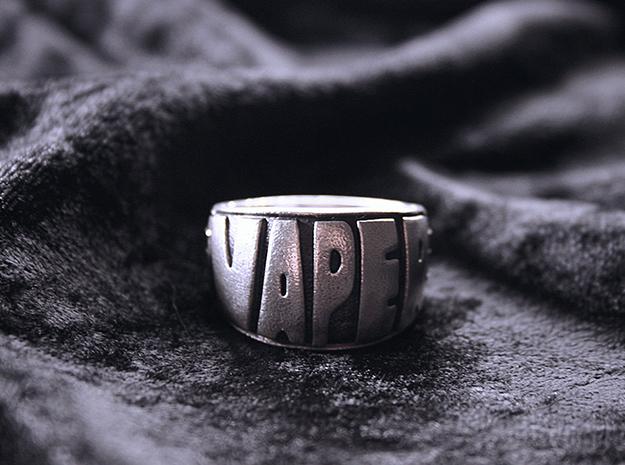 Ring Vaper size US 13 1/2  in Natural Silver