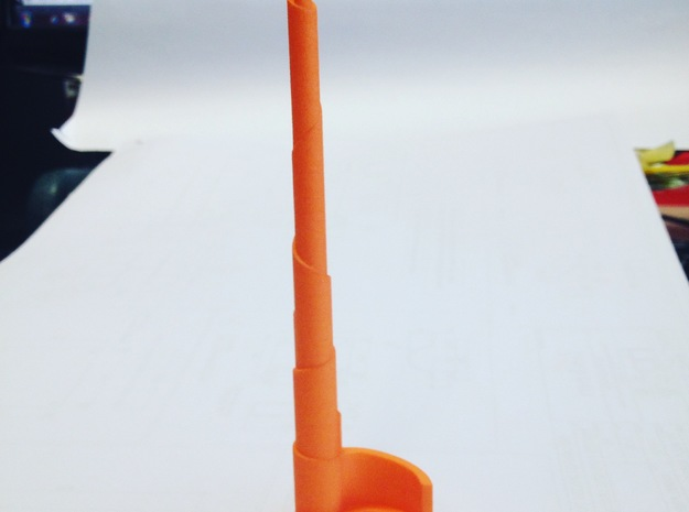 The Spire in Orange Strong & Flexible Polished