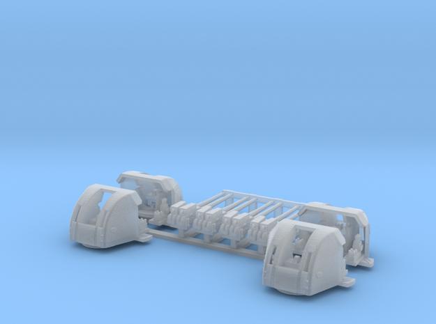 1/350 RN 4 Inch Twin MKXVI Gun x4