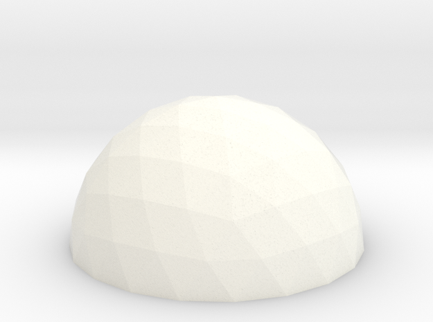 Geodesic Dome V4 10cm in White Strong & Flexible Polished