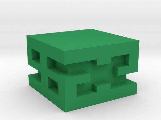 Bauhaus Irregular Dice in Green Strong & Flexible Polished