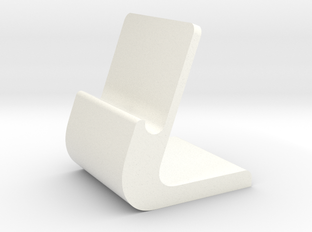 iPhone Stand in White Strong & Flexible Polished
