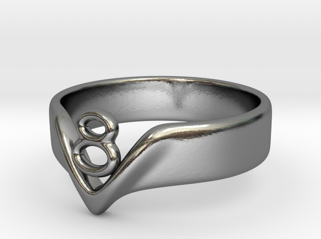 Ring3-size7 in Polished Silver