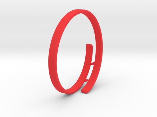 Bag Bracelet in Red Strong & Flexible Polished: Medium