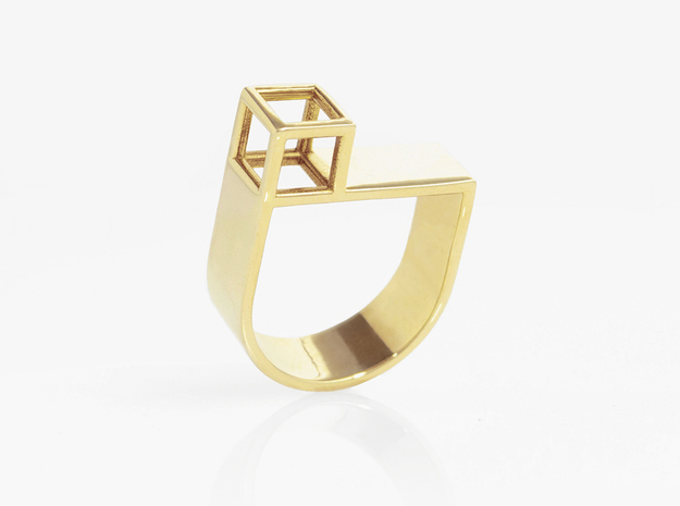 STRUCTURE Nº 4 RING in 14k Gold Plated Brass: 7.5 / 55.5