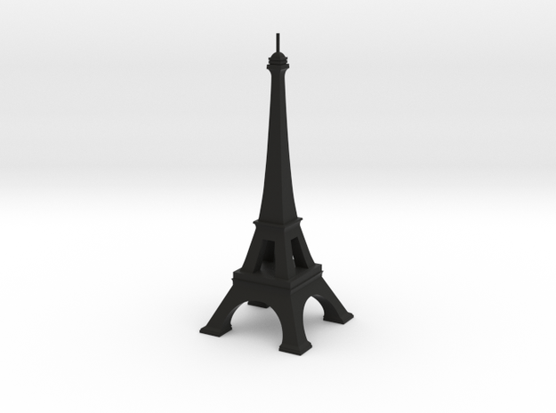 Eiffel Tower in Black Natural Versatile Plastic