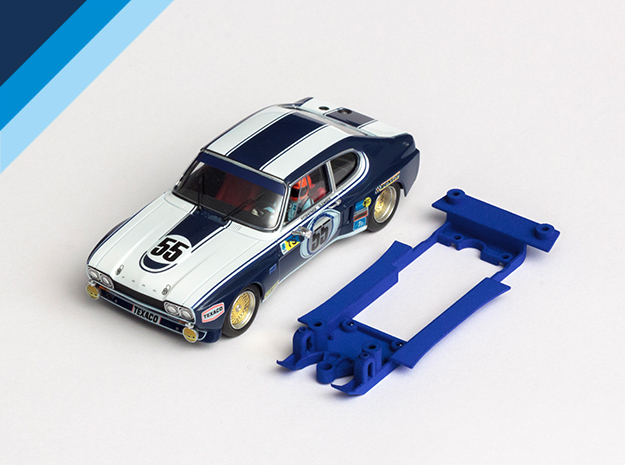 1/32 SRC Ford Capri LV Chassis for Slot.it SW pod in Blue Strong & Flexible Polished