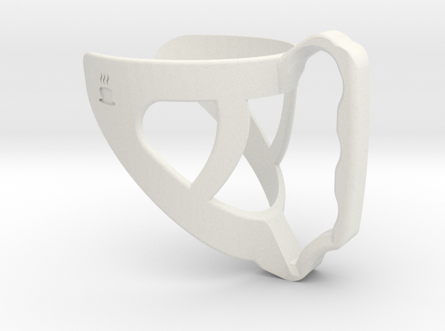 Mugify - Coffee cup handle for Starbucks Cups in White Strong & Flexible