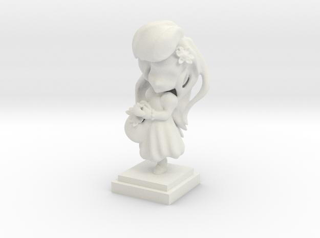 Flower Girl in White Natural Versatile Plastic