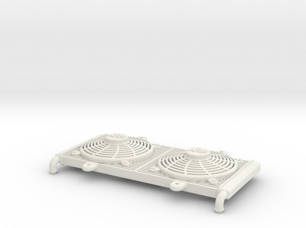 1:10 scale Radiator - Axial Wraith & Vaterra Twin  in White Natural Versatile Plastic