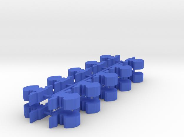 Game Piece, Explorer Fed Station, 20-set in Blue Processed Versatile Plastic
