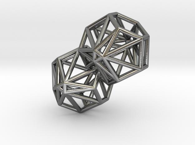 Twynked in Polished Silver (Interlocking Parts)
