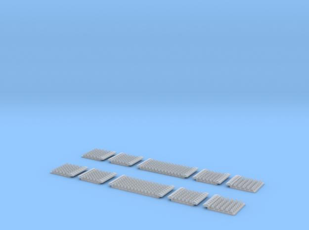 N Gauge Polymer Anti-trespass Panels Streamline 55 in Smooth Fine Detail Plastic: 1:148