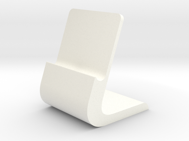 iPhone Stand Slim in White Strong & Flexible Polished
