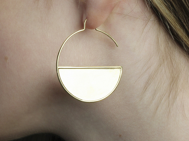 FLAT Nº 1 EARRINGS in 14k Gold Plated