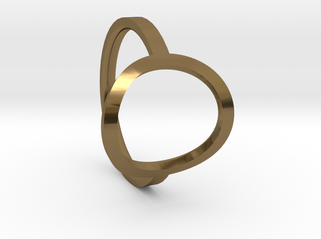 Simple Ring 111b8 in Polished Bronze