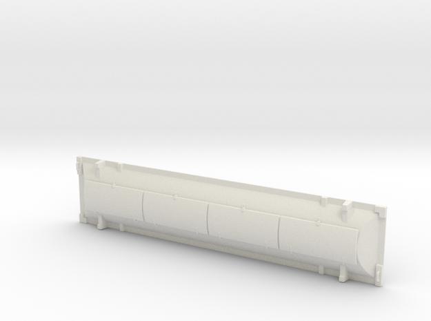 HO 1/87 railroad gondola hood #4 (170mm x 37mm) in White Natural Versatile Plastic