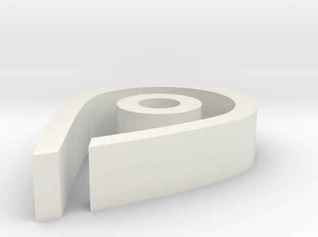 Map Pin in White Natural Versatile Plastic