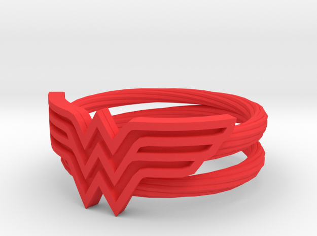 Wonder Woman Ring With Lasso Size 6 in Red Processed Versatile Plastic: 6 / 51.5