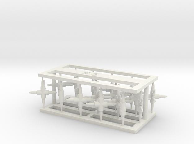 MOF Connector05 (20) in White Natural Versatile Plastic