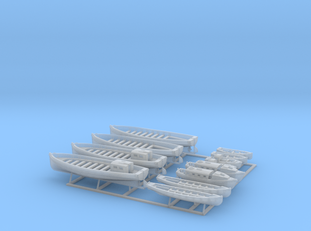 1/350 WW2 RN Boat Set 2 without Mounts