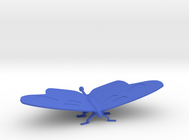 Medium Butterfly in Blue Processed Versatile Plastic