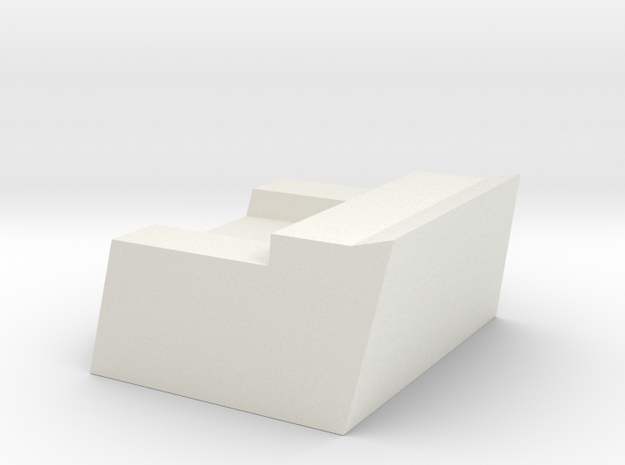 1/96 scale Burke - CWIS Rear Chair in White Natural Versatile Plastic