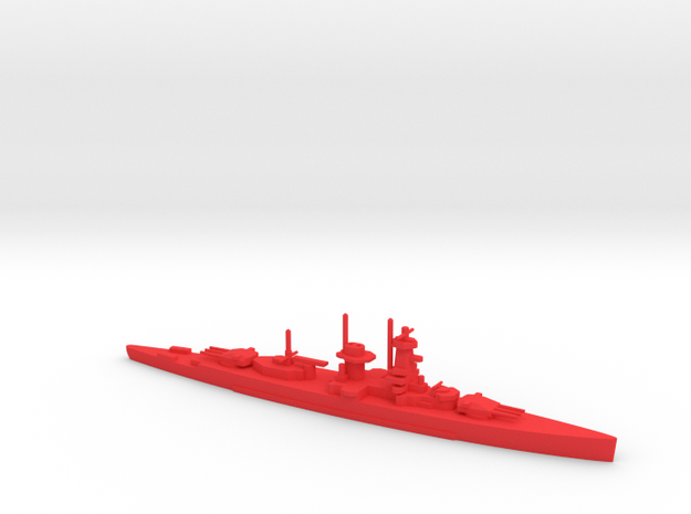1/1200 Graf Spee in Red Processed Versatile Plastic
