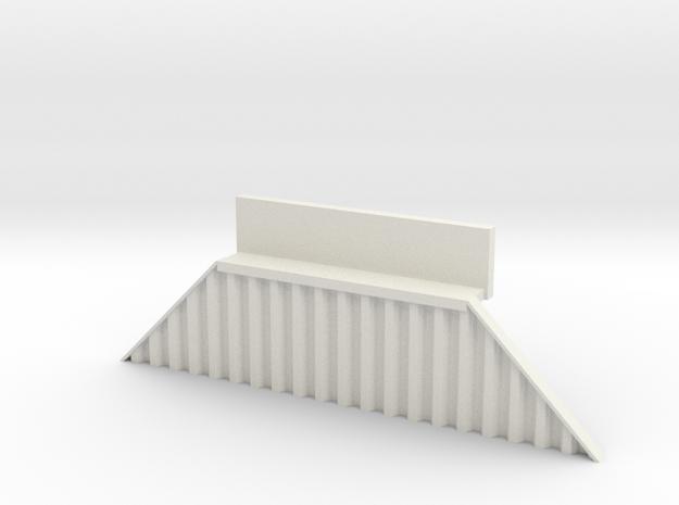 N Bridge Abutment Sheet Piling Sloped (H55 W in White Natural Versatile Plastic
