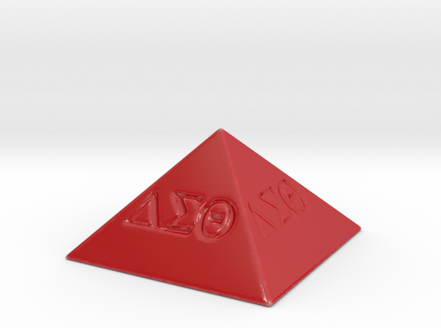 Delta Sigma Theta Decorative Pyramid in Gloss Red Porcelain
