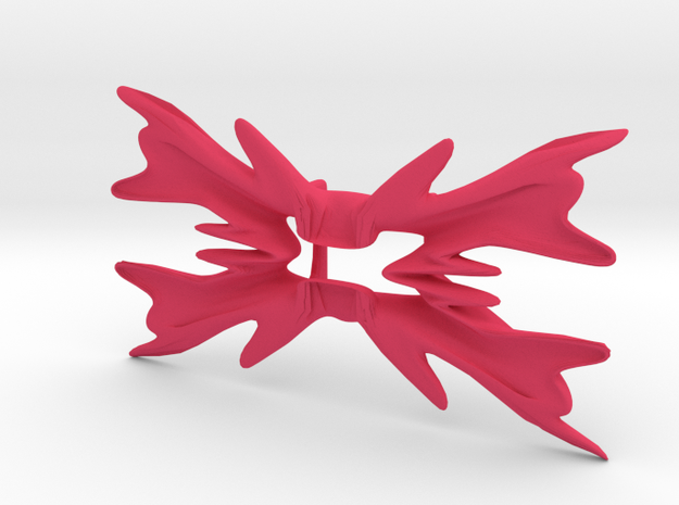 Bowtie flower in Pink Strong & Flexible Polished