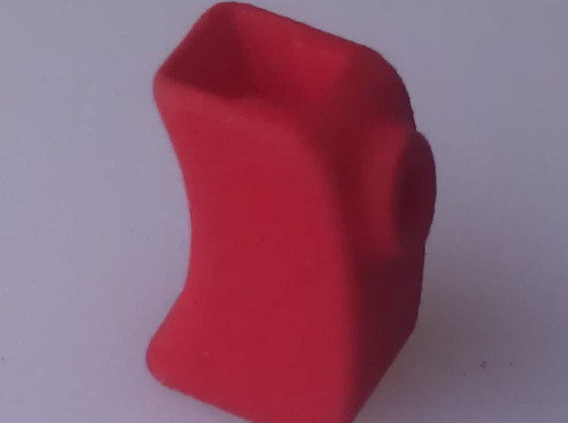 Cover for throttle trigger, Sanwa M12 or MT4 radio in Red Strong & Flexible Polished