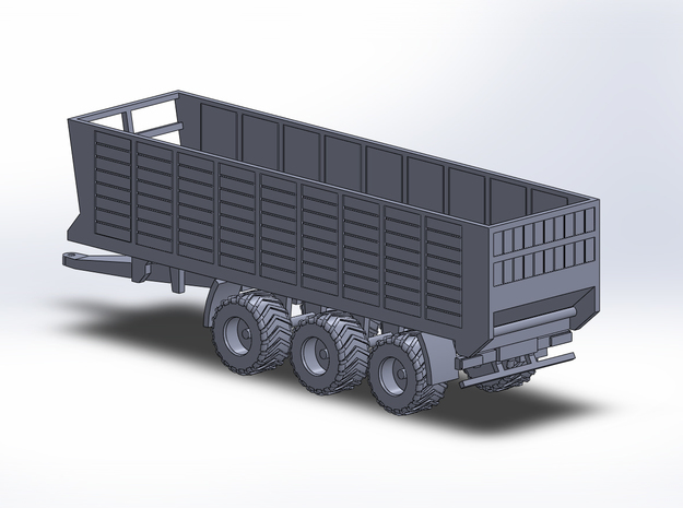 1:160/N-Scale Silage Trailer 3-axle in Smooth Fine Detail Plastic