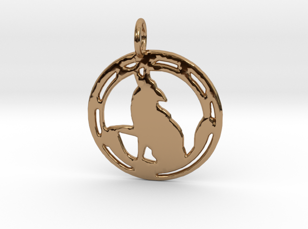 'Wild One' pendant in Polished Brass