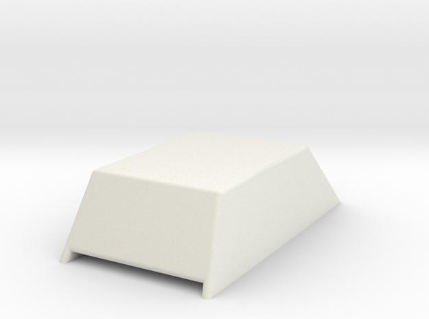 Hood Scoop V1 1/25 in White Natural Versatile Plastic