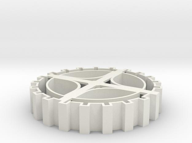 Steampunk gear Cookie Cutter 3 in White Natural Versatile Plastic