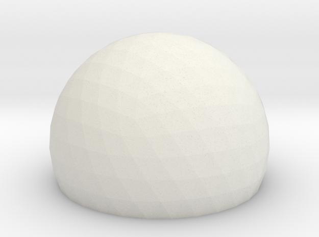 Geodesic Dome Sphere v6 21cm in White Natural Versatile Plastic