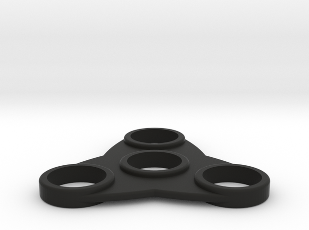 The Tsar - Fidget Spinner in Black Natural Versatile Plastic