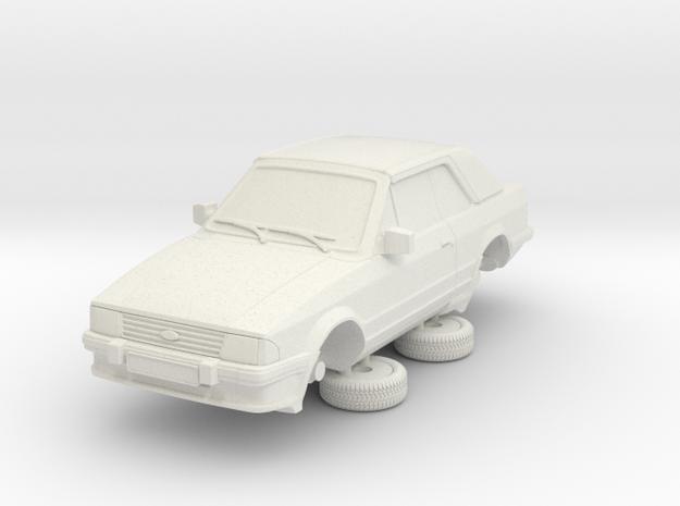 Ford Escort Mk3 1-87 2 Door Cabriolet in White Natural Versatile Plastic