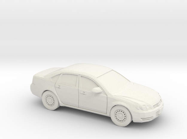 1/43 2005-12 Chevrolet Impala in White Natural Versatile Plastic
