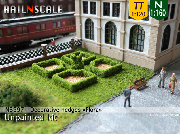 Decorative hedges Flora (N 1:160 - TT 1:120)
