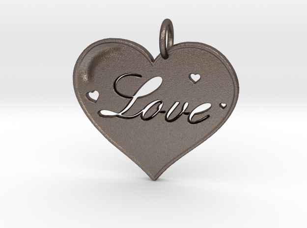 i 4 Love Pendant in Stainless Steel