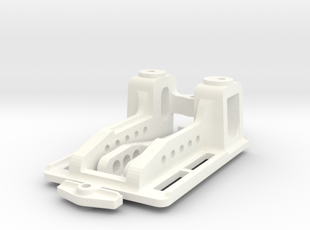 Puente normal1:24 V 3 / Front Suspension Slot in White Processed Versatile Plastic