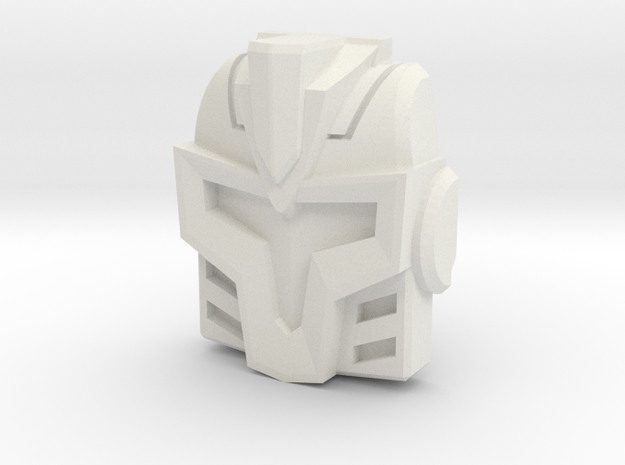 Cyberjet Hooligan/Jetfire Face (Titans Return) in White Natural Versatile Plastic