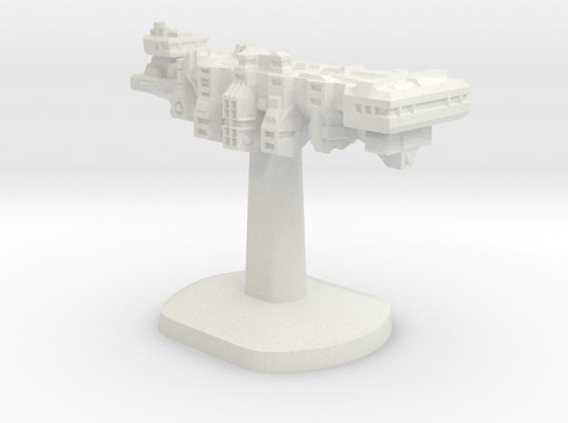 Tempus Nautica Board Game Piece - Player ship in White Natural Versatile Plastic