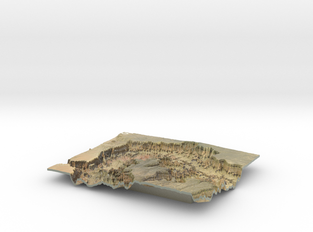 The Grand Canyon Map, North & South Rim in Coated Full Color Sandstone