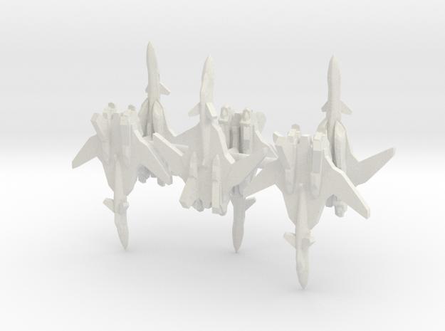 6x YF-19 1-700 Scale in White Natural Versatile Plastic